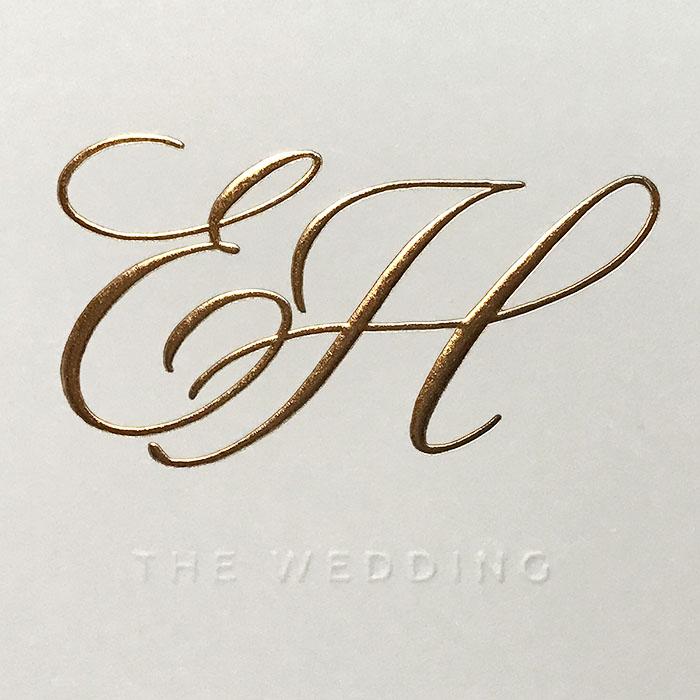 Huwelijksuitnodiging Evelyne & Henri