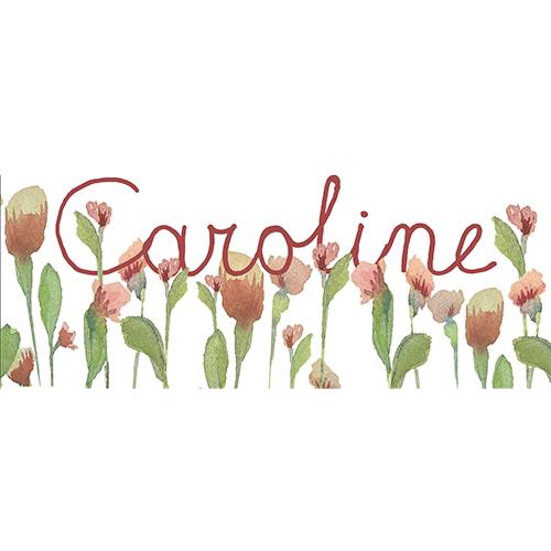 Geboortekaart Caroline