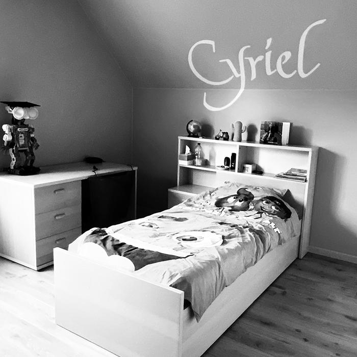 Belettering slaapkamer Cyriel en Jules